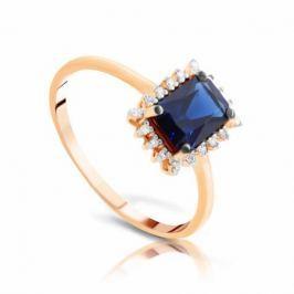 Кольцо с сапфирами и бриллиантами из розового золота VALTERA 96658
