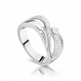 Кольцо с бриллиантами из белого золота 103530