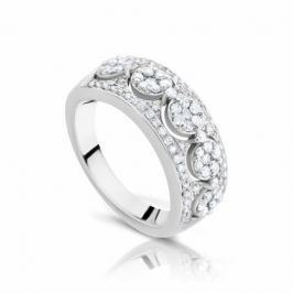 Кольцо с бриллиантами из белого золота 103532