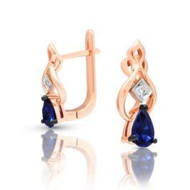 Серьги с сапфирами и бриллиантами из розового золота VALTERA 97144