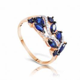 Кольцо с сапфирами и бриллиантами из розового золота VALTERA 94771