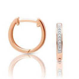 Серьги с бриллиантами из розового золота VALTERA 100436