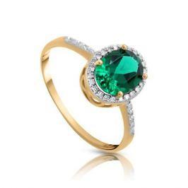 Кольцо с изумрудами и бриллиантами из розового золота 106131
