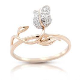 Кольцо с бриллиантами из розового золота VALTERA 106221