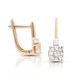 Серьги с бриллиантами из розового золота VALTERA 106230