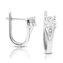 Серьги с бриллиантами из белого золота VALTERA 106229