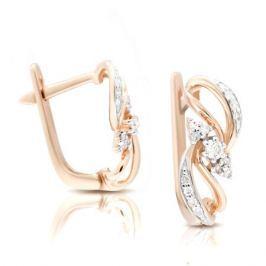 Серьги с бриллиантами из розового золота VALTERA 106219