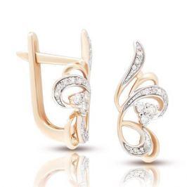 Серьги с бриллиантами из розового золота VALTERA 106224