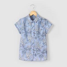 Рубашка с тропическим рисунком, 10-16 лет