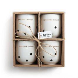 Комплект из 4 фарфоровых чашек для эспрессо, KUBLER