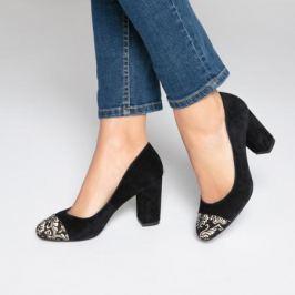 Туфли кожаные с вышивкой на мысках