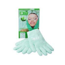 Spa Belle, Увлажняющие гелевые перчатки, цвет зеленый с алоэ