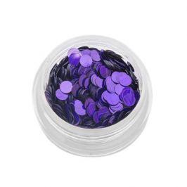 TNL, Пайетки для ногтей «Кошачий глаз» - фиолетовые №3