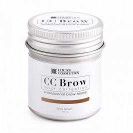 Lucas' Cosmetics, Хна для бровей CC Brow, серо-коричневая, в баночке, 10 г
