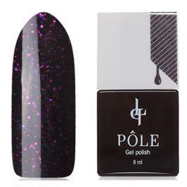 POLE, Гель-лак №026, Пурпурный с блестками