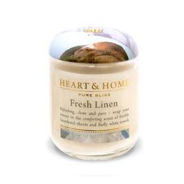 Heart&Home, Свеча «Свежесть белья», маленькая, 110 г