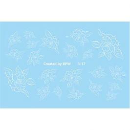BPW.Style, Слайдер-дизайн «Белые цветы» №3-17