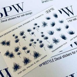 BPW.Style, Слайдер-дизайн «Черные цветы и бабочки» №3-76b, градиент