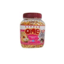 Лакомство для грызунов LITTLE ONE Воздушные зерна для всех видов грызунов банка 440мл/150г