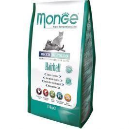 Корм для кошек MONGE Cat Hairball для выведения шерсти сух. 1,5кг
