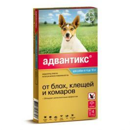 BAYER ADVANTIX для собак от блох, клещей, комаров 100 (4-10кг веса)