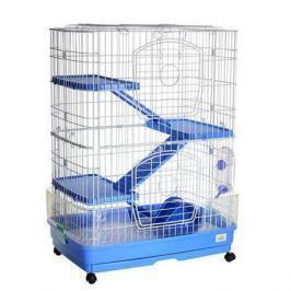 Клетка для грызунов KREDO для шиншилл 68x46x92см 3-х этажная пласт. борт уком.