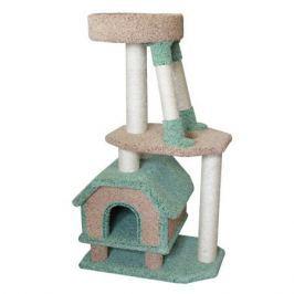 Домик для кошек ПУШОК Конура для буйных кошек, ковролиновый, 47х68х130см