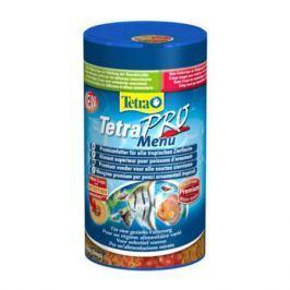 Корм для рыб TETRA PRO Menue для всех видов рыб, 4 вида мелких хлопьев 250мл