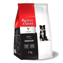 Корм для собак ROYAL FARM для средних пород, курица сух. 2кг