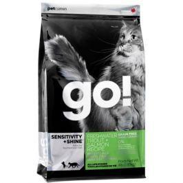 Корм для котят и кошек GO! беззерновой, с чувств.пищеварением, форель, лосось. сух. 1,82кг