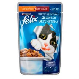 Корм для кошек FELIX Индейка, печень в желе конс. 85г
