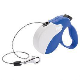 Рулетка для собак FERPLAST Amigo Mini (шнур) со сменной крышкой корпуса, сине-белая