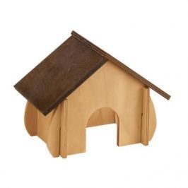 Домик для грызунов FERPLAST SIN 4648 для хомяков, деревянный 19x9,6x13,8см