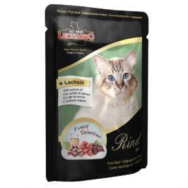 Корм для кошек LEONARDO мясо конс. 85г