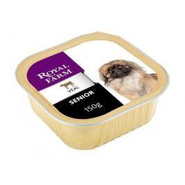 Корм для собак ROYAL FARM для пожилых, телятина конс. 150г