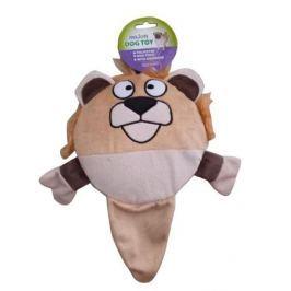 Игрушка для собак MAJOR Лев с пищалкой круг 17см плюш