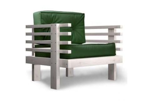 Кресло Anderson Стоун бел дуб-зеленый кож.зам Электроника и оборудование