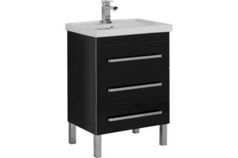 Тумба под раковину Aquanet Сиена 60 напольная черный (186367) Мебель для ванных комнат