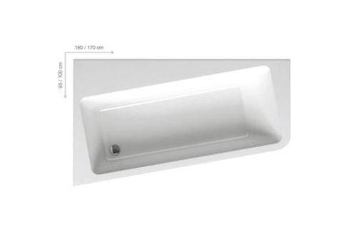 Акриловая ванна Ravak 10 160х95 L левая белая (C831000000) Акриловые