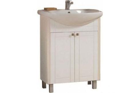 Тумба с раковиной Акватон Альпина 65 дуб молочный (1A133401AL530 + 1WH207775) Мебель для ванных комнат
