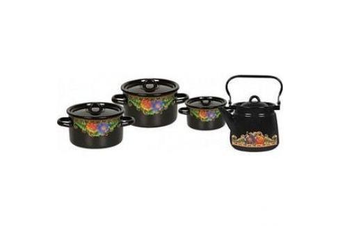 Наборы посуды 4 предмета СтальЭмаль Вологда (1с142/1) Наборы посуды