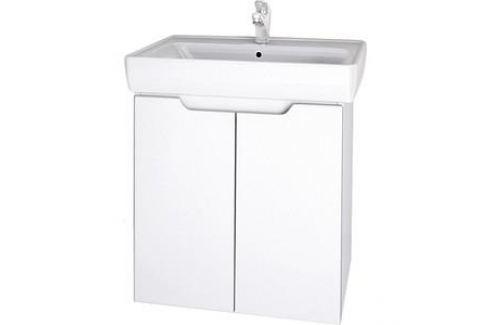 Тумба с раковиной Dreja Mini 60 белый (99.0202 + Mini 60) Мебель для ванных комнат