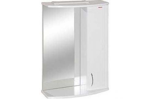 Зеркальный шкаф Меркана квадро 8 55 см шкаф справа свет белое (7332) Мебель для ванных комнат