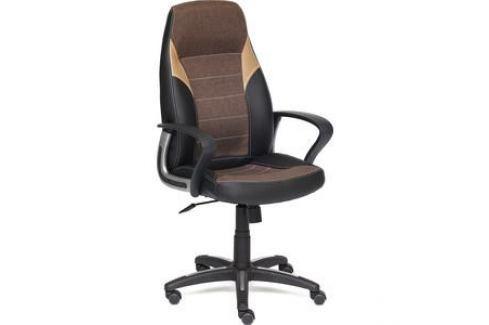 Кресло TetChair INTER кожзам/ткань черный/коричневый/бронзовый 36-6/ЗМ7-147/21 Компьютерные кресла