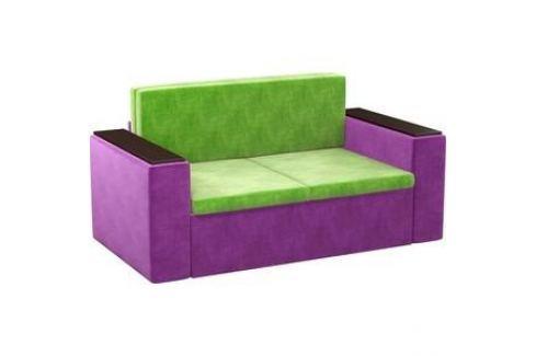 Детский диван АртМебель Арси микровельвет зелено-фиолетовый Детские диваны