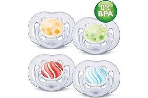 Набор пустышек Philips Avent силикон Freelow Дизайн 6-18мес BPA-Free SCF180/24 86400 Соски и пустышки