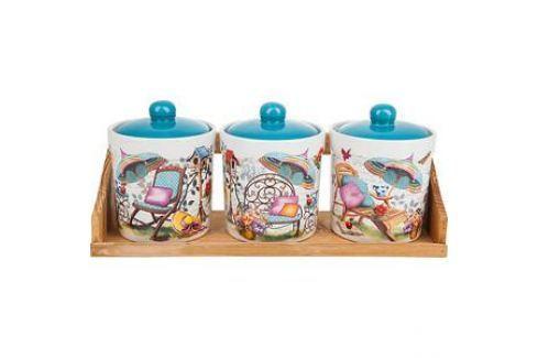 Набор банок для сыпучих продуктов 3 штуки Nouvelle Сад (660057) Посуда для хранения продуктов