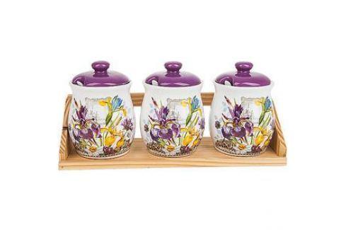 Набор банок для сыпучих продуктов 3 штуки Nouvelle Ирис (660014) Посуда для хранения продуктов
