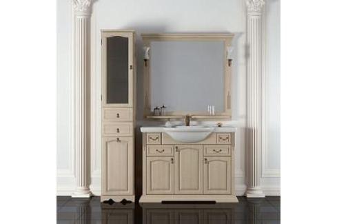 Тумба с раковиной Opadiris Риспекто 105 слоновая кость (Z0000006705 + Z0000008948) Мебель для ванных комнат
