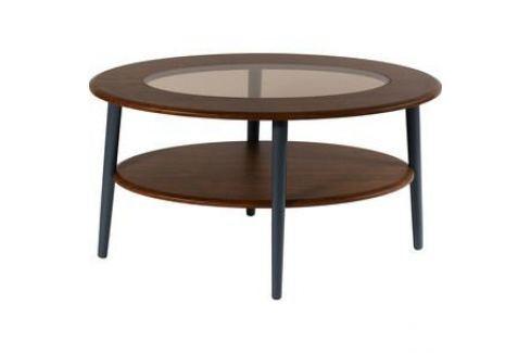 Стол журнальный Калифорния мебель Эль со стеклом СЖС-01 орех Журнальные столы